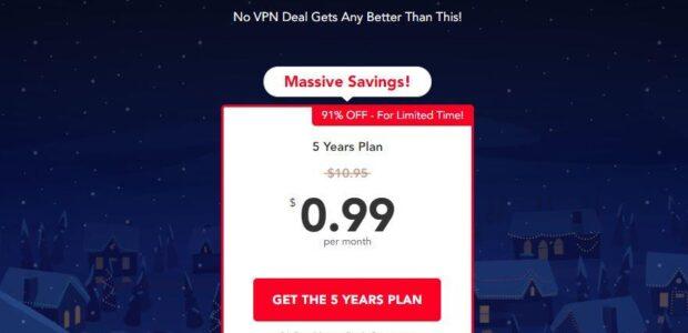 PureVPN $0.99 cents per month