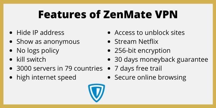 Features of ZenMate VPN