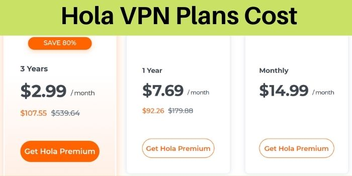 Hola VPN Plans Cost