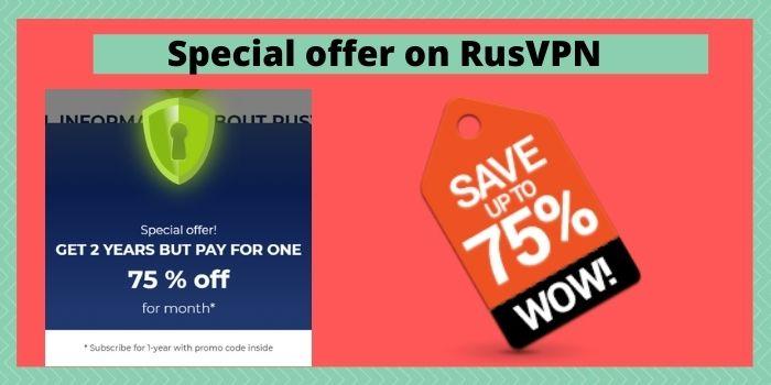 Special Offer on RUSVPN