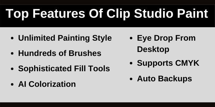 Top Features Of Clip Studio